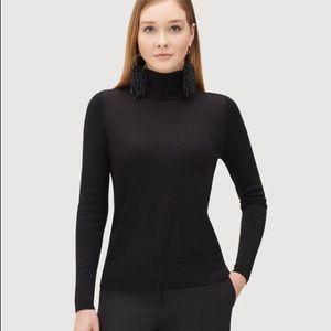 Lafayette 148 Fine Wool Modern Turtleneck Sweater